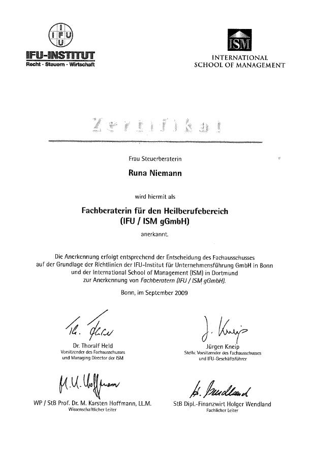 Lebenslauf von Runa Niemann - Steuerberaterin in Rostock - Jetzt ...