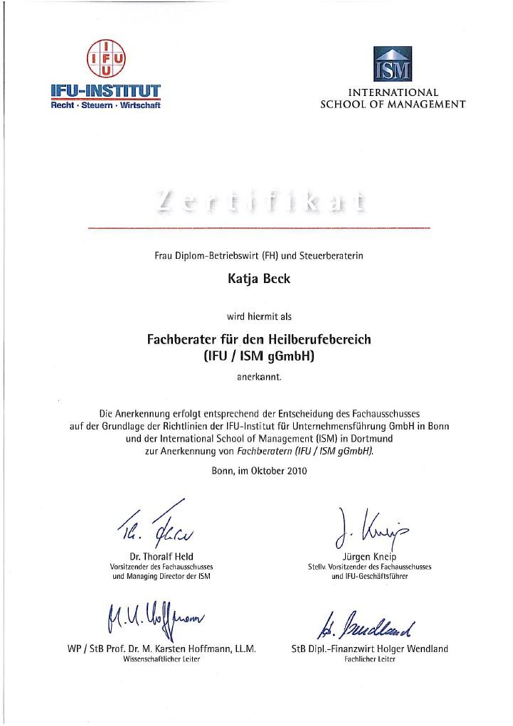 Lebenslauf von Katja Beck - Steuerberaterin in Kassel - Jetzt ...